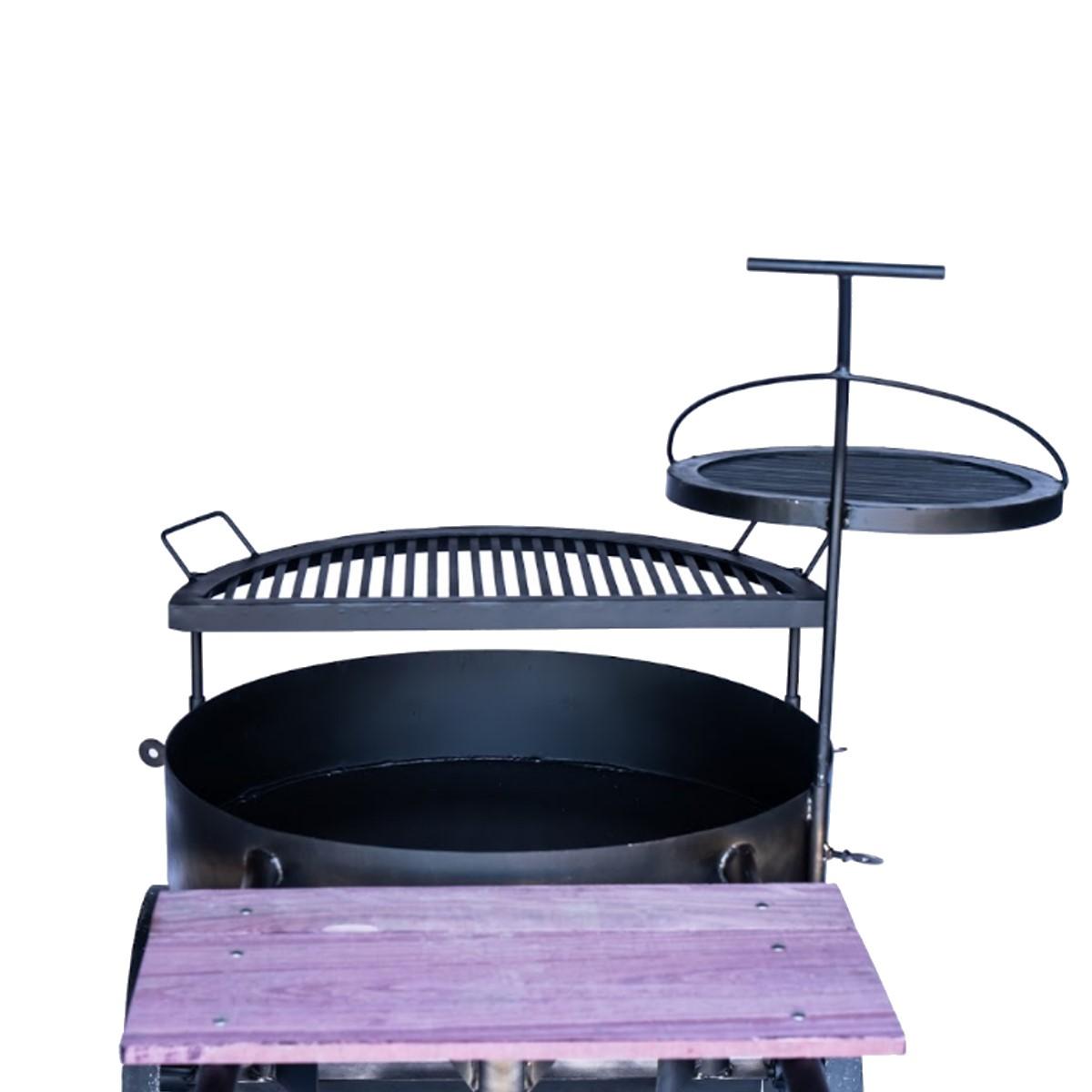 Churrasqueira Costelão Multi Uso Modelo G 85x42cm  - Panela de Ferro Fundido