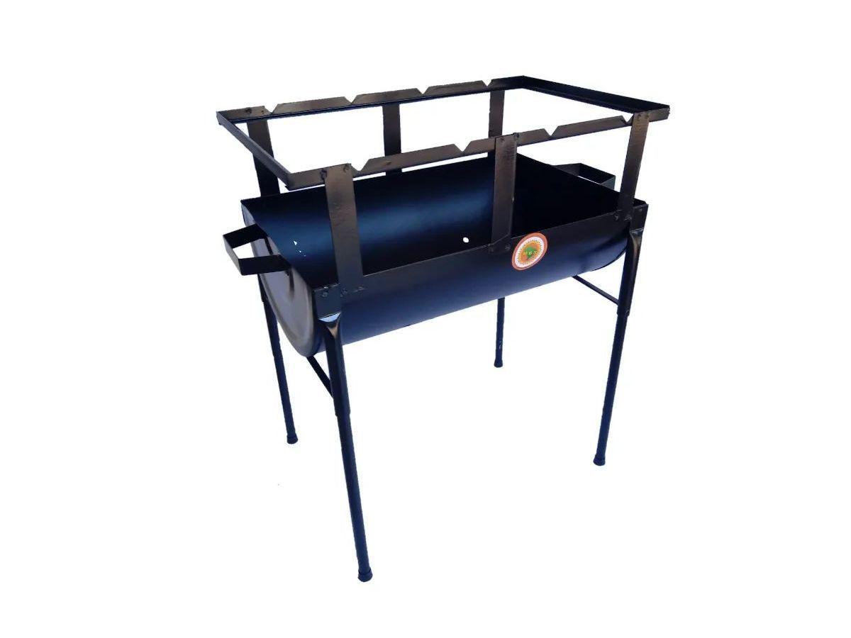 Churrasqueira Prática Chapa De Aço Carbono 50x29cm  - Panela de Ferro Fundido