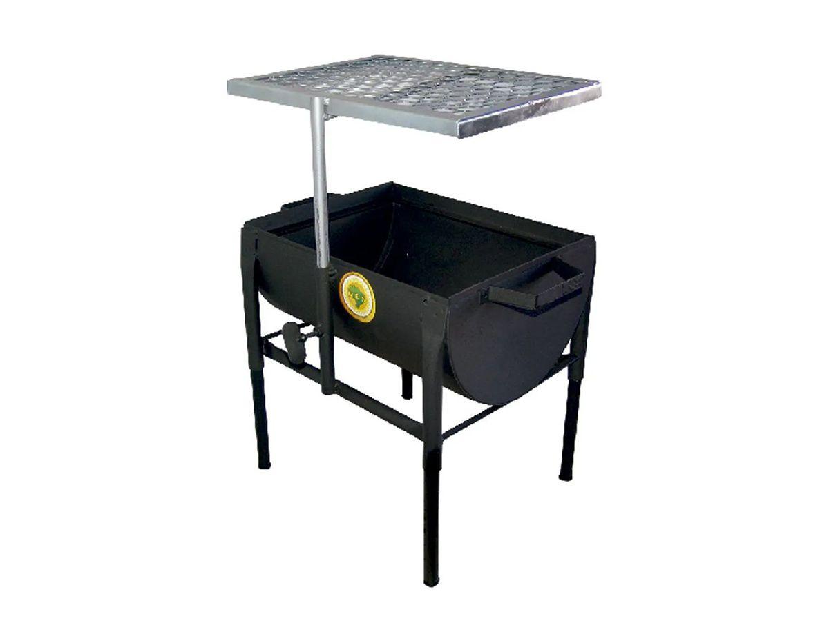 Churrasqueira Prática Com Grelha Regulável 30x25cm  - Panela de Ferro Fundido