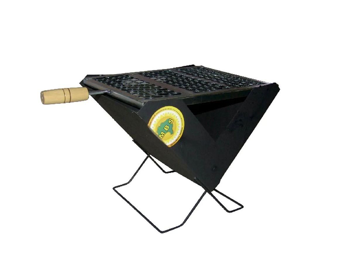 Churrasqueira Prática Portátil Pop Slim 40x24cm  - Panela de Ferro Fundido