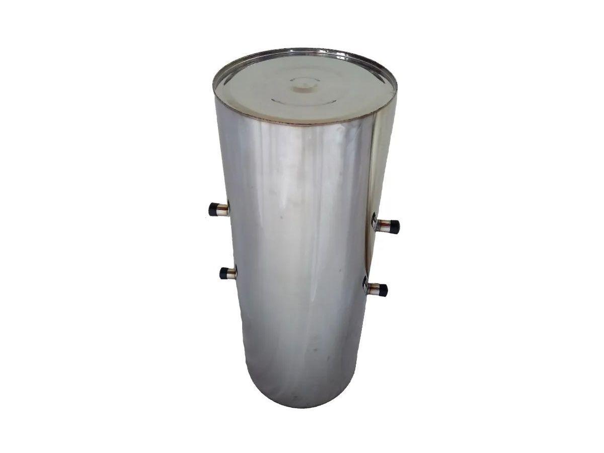 Cilindro Para Fogão A Lenha Inox 3/4 Chapa 18 40lts 60x32cm  - Panela de Ferro Fundido