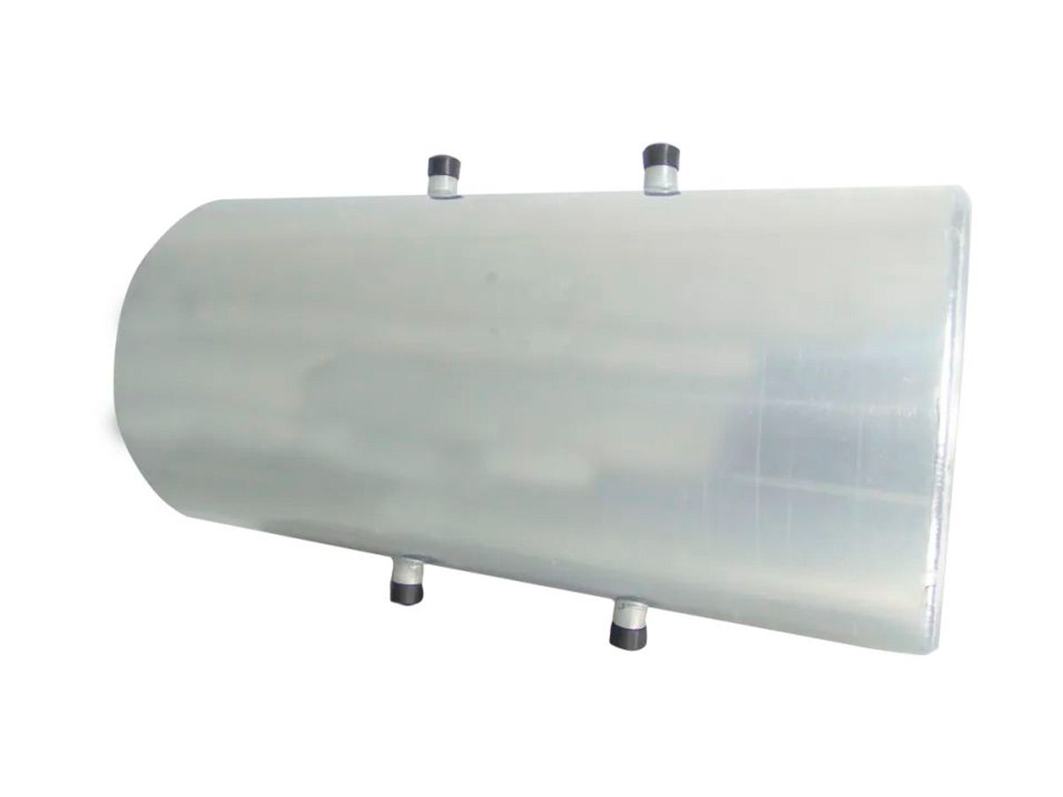 Cilindro para Serpentina em Aço Inox - 60 Litros 80x32cm  - Panela de Ferro Fundido