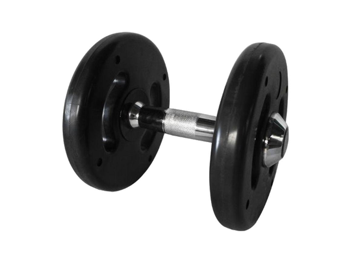 Dumbbell Injetado Com Pegada Cromada Academia Fitness 10kg  - Panela de Ferro Fundido