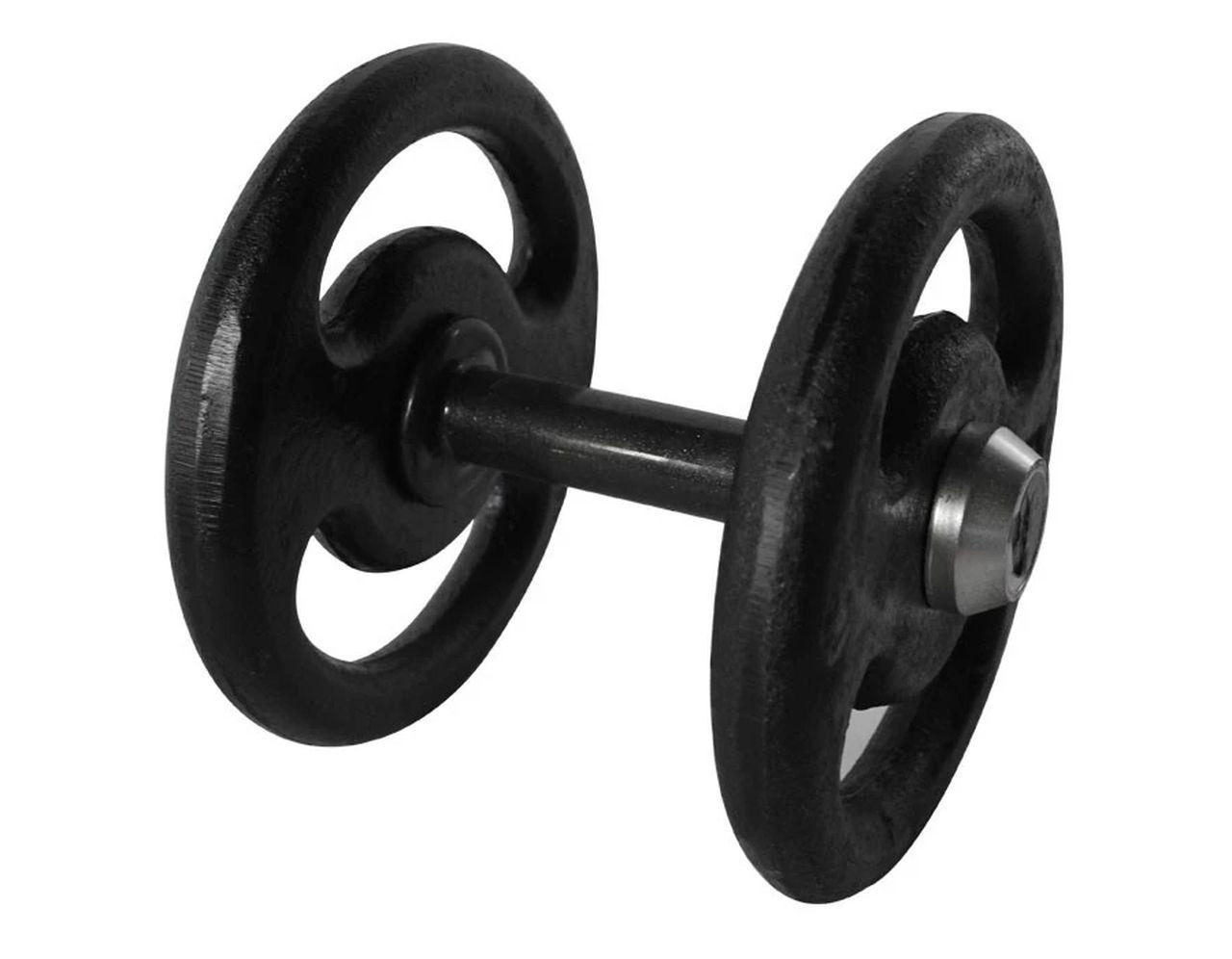 Dumbbell Pintado Pegada Emborrachada Academia Fitness 12kg  - Panela de Ferro Fundido