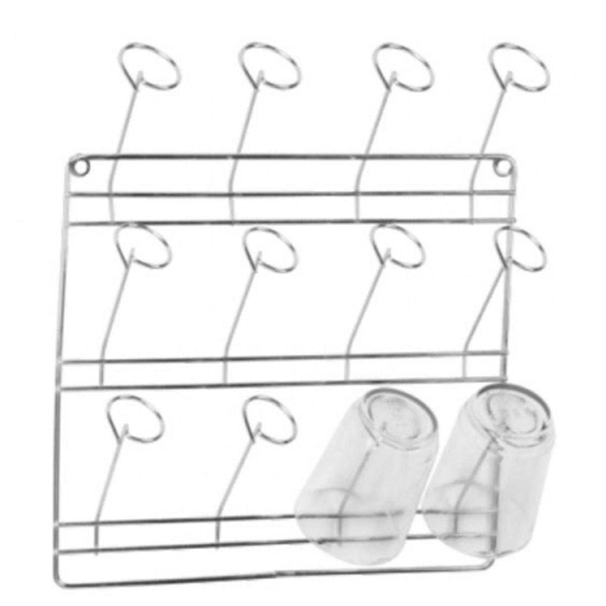 Escorredor De Copos De Parede Com Capacidade Para 12 Copos  - Panela de Ferro Fundido