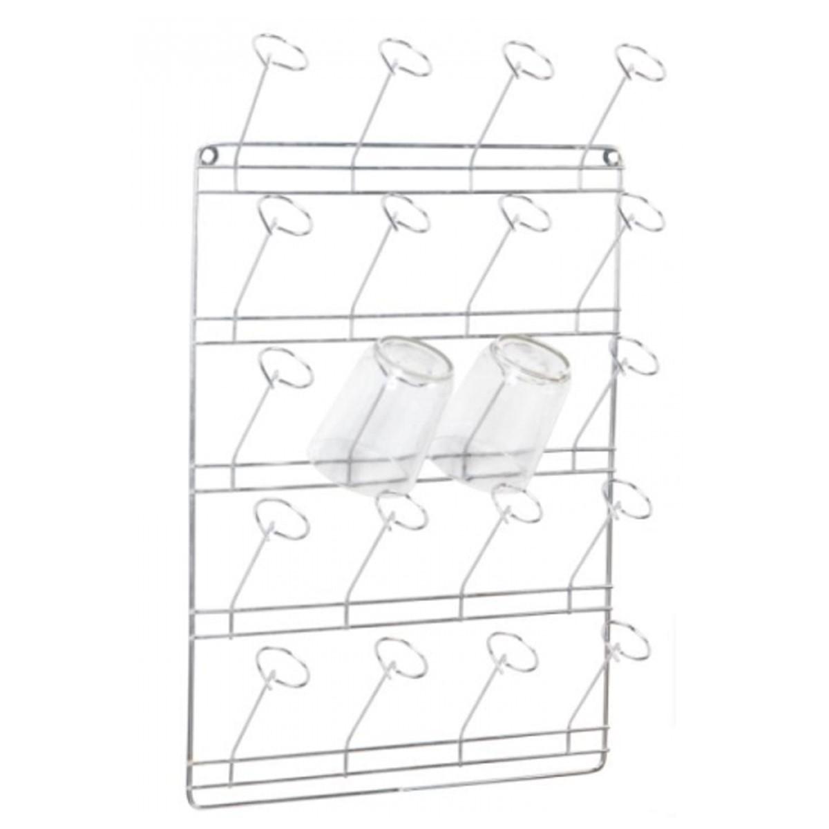 Escorredor De Copos De Parede Com Capacidade Para 20 Copos  - Panela de Ferro Fundido