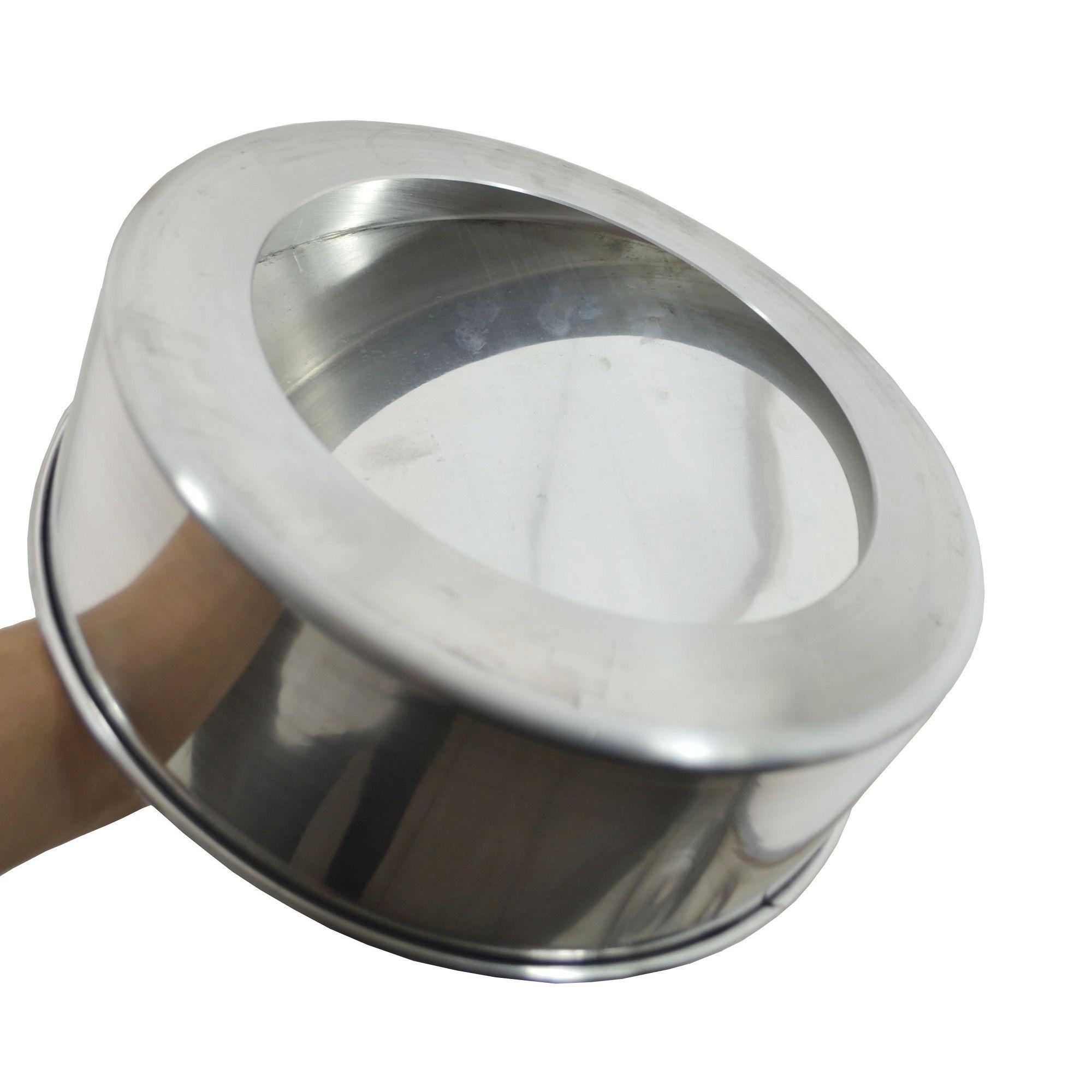 Forma de Bolo Assadeira Baixa Fundo Falso em Alumínio 25cm  - Panela de Ferro Fundido