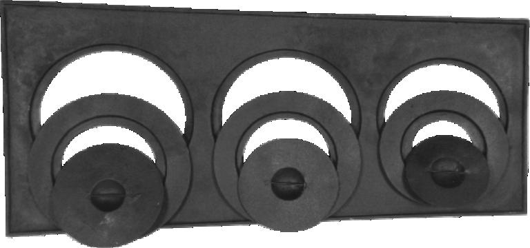 Forno 48x35x30cm Tampa Ferro e Chapa 3 Furos Fogão A Lenha
