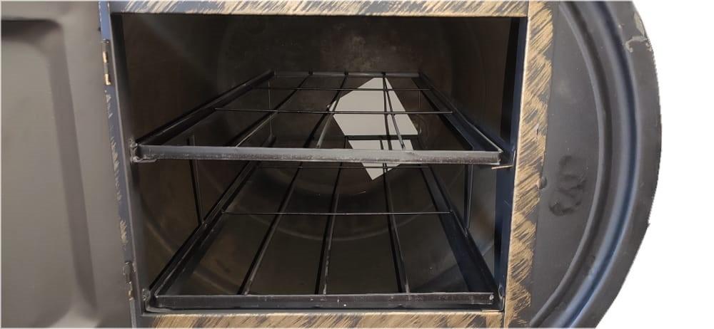 Forno a Lenha de Tambor Pequeno 100 Litros  - Panela de Ferro Fundido