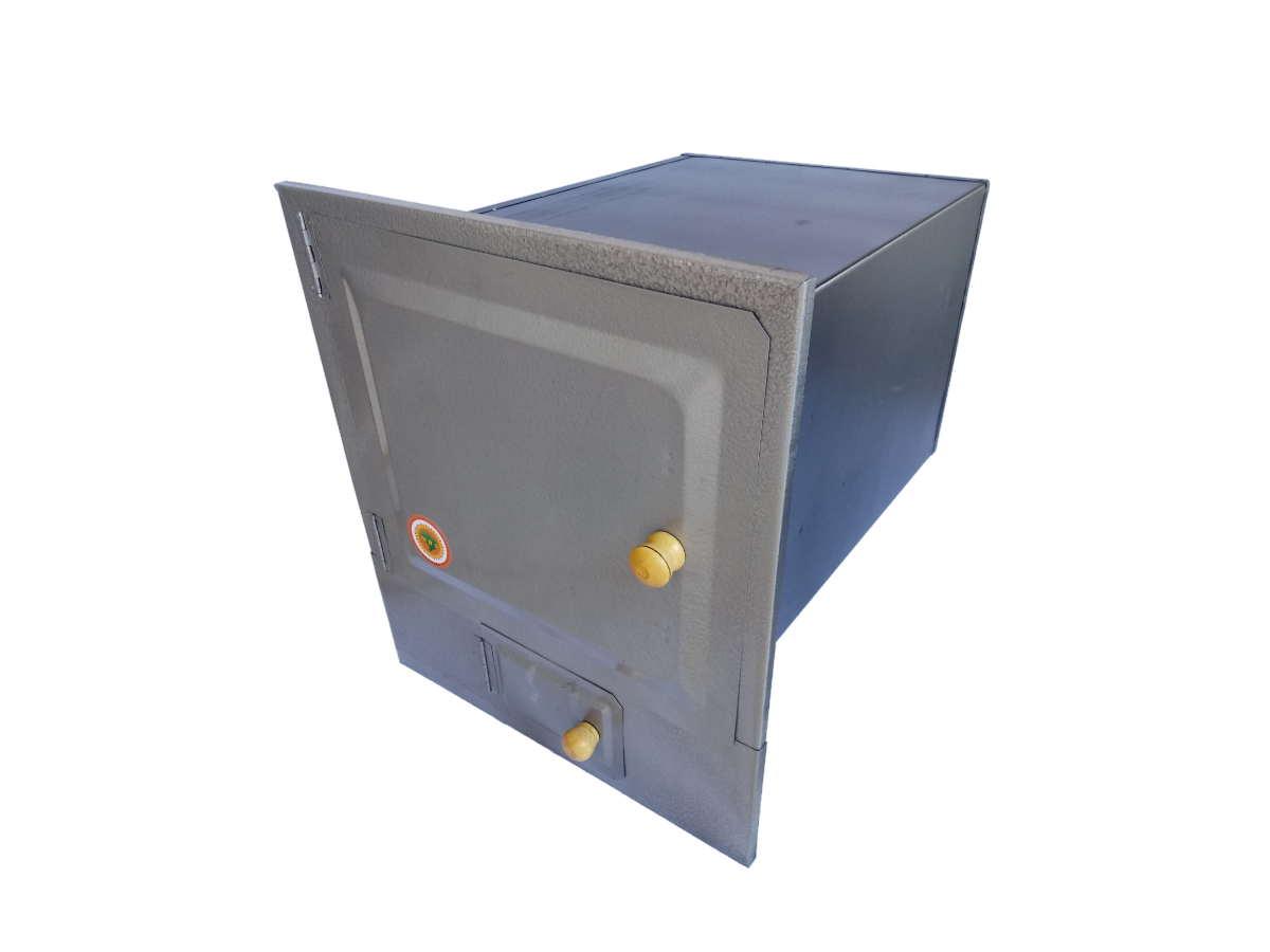 Forno De Chapa Galvanizada N°02 Com Cinzeiro 50x30x25cm  - Panela de Ferro Fundido
