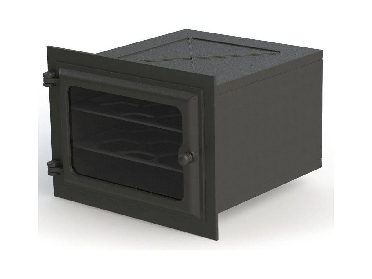 Forno de Ferro com Vidro-modelo Libaneza P 48,5x33,5x28,5cm  - Panela de Ferro Fundido
