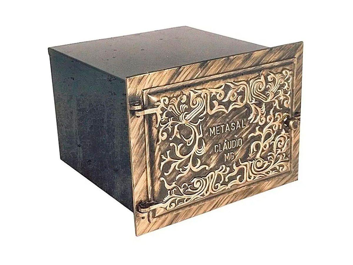 Forno Pesado para Fogão a Lenha Ouro N07 0,90mm 50x28x45cm  - Panela de Ferro Fundido