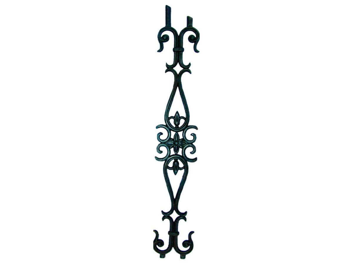 Grade de Ferro Fundido Flor de Liz 1 Grau Varanda 84x14cm  - Panela de Ferro Fundido