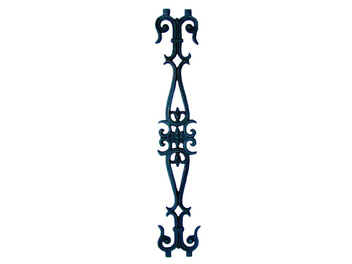 Grade Ferro Fundido Flor de Liz Reta Varanda Sacada 80x14cm  - Panela de Ferro Fundido