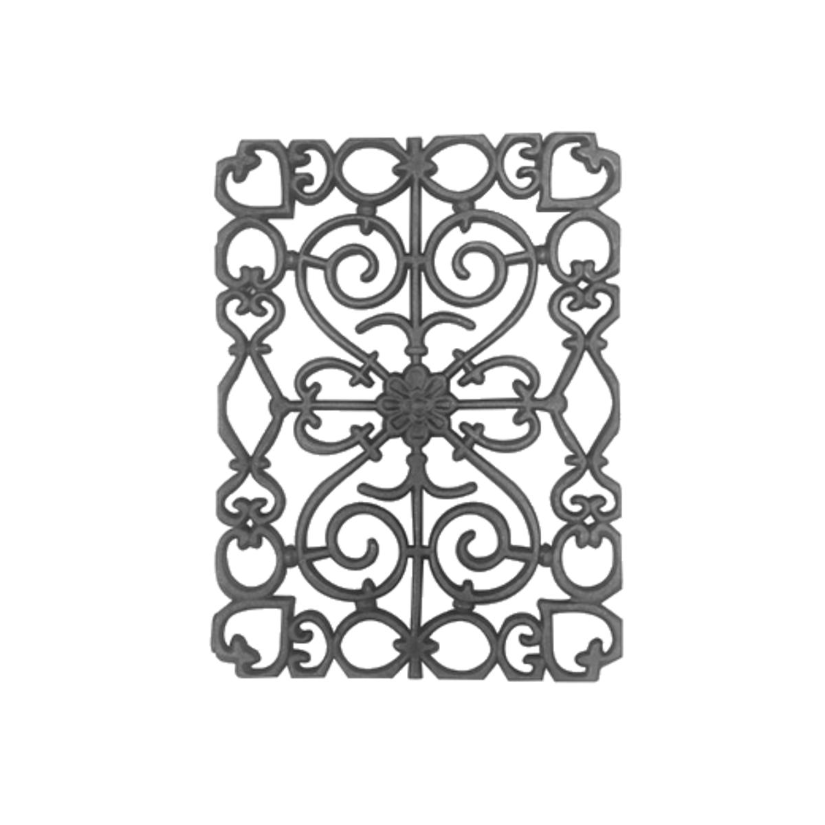 Grade Ferro Fundido Ramadinha Sacada Varanda Escada 45x33cm  - Panela de Ferro Fundido