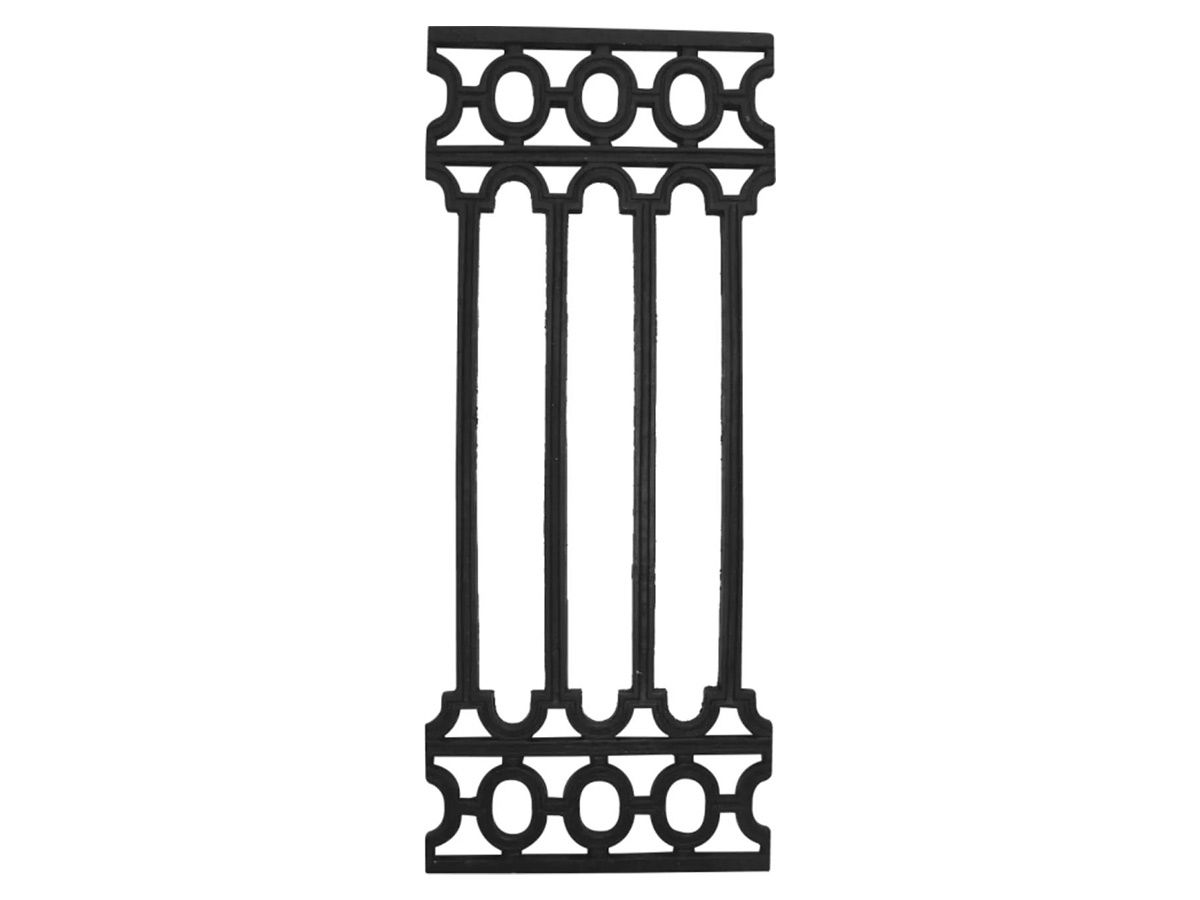 Grade Ferro Fundido Romana Sacada Varanda Escada 80x34cm  - Panela de Ferro Fundido