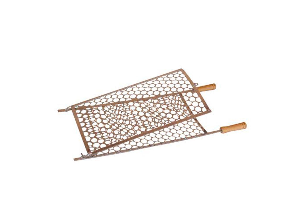 Grelha Dobrável Abaulada em Tela Moeda -  72cmx29cm  - Panela de Ferro Fundido