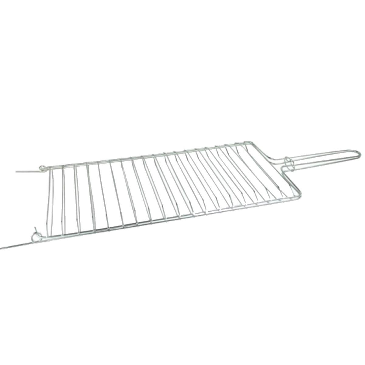 Grelha Dobrável Abaulada Para Churrasqueira 28x80cm  - Panela de Ferro Fundido