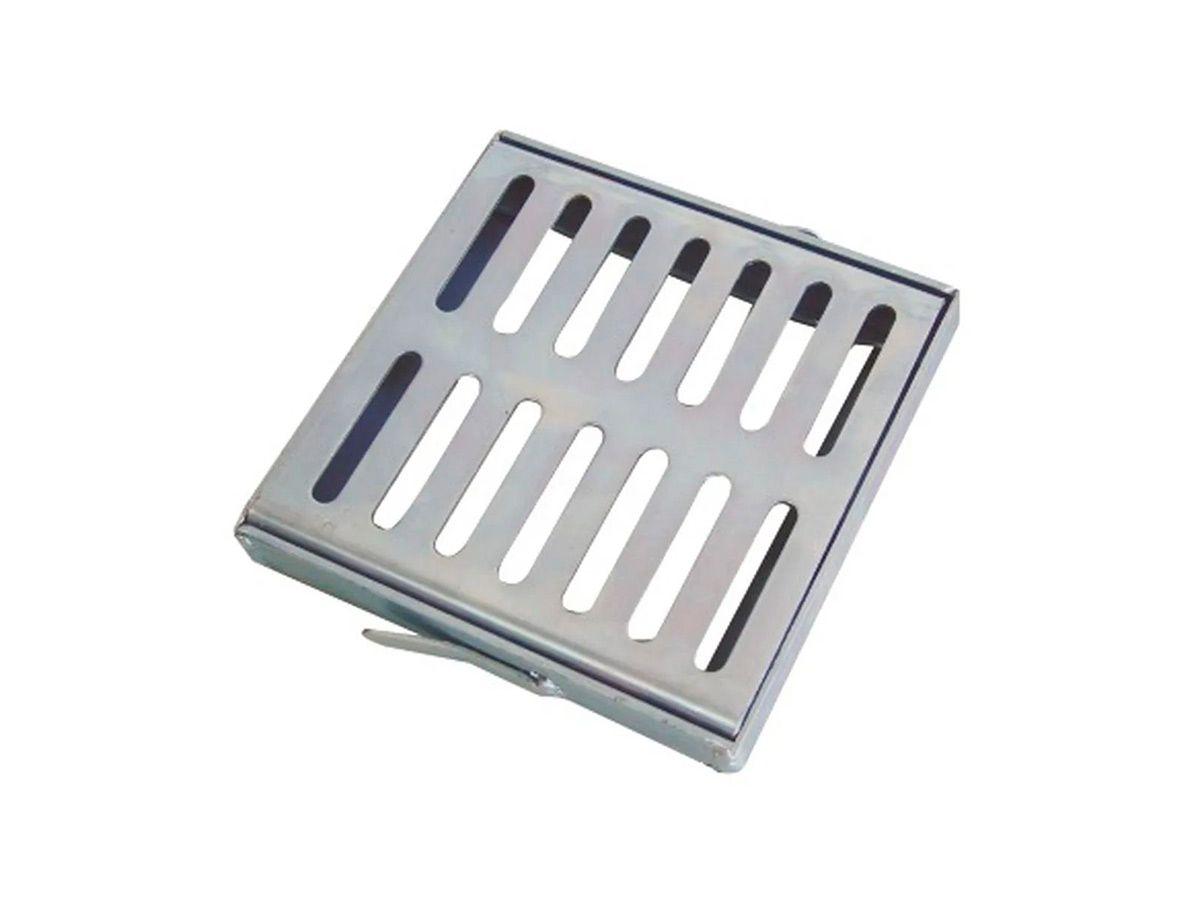 Ralo Grelha e Castilho de Aço Galvanizado Chapa 2mm 20x20cm  - Panela de Ferro Fundido