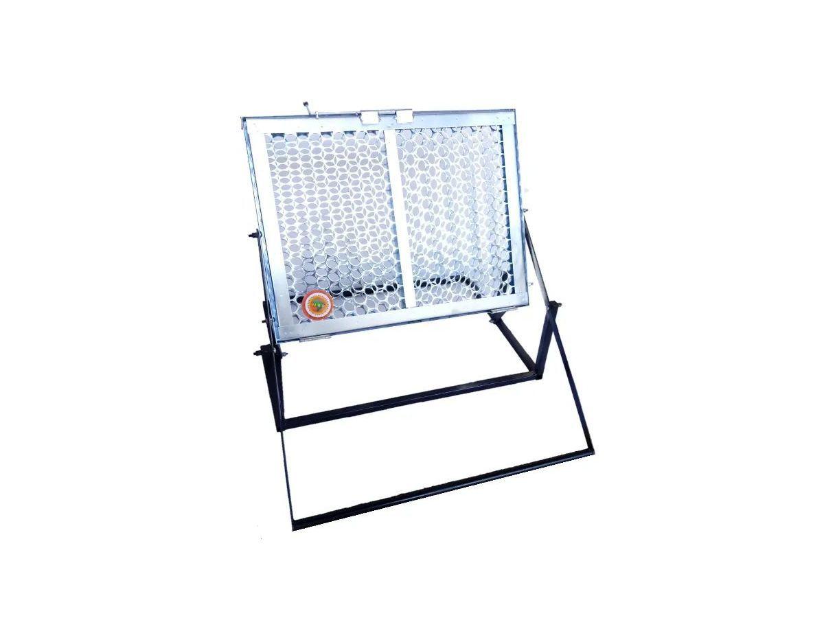 Grelha Elevatória Inox Para Churrasqueira 50x40cm  - Panela de Ferro Fundido