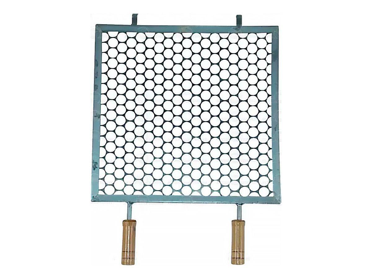Grelha Quadrada Para Churrasqueira 40x40cm  - Panela de Ferro Fundido