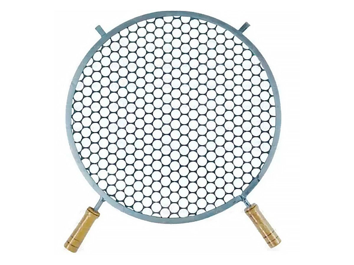 Grelha Redonda De Inox Para Churrasqueira 45cm De Diâmetro  - Panela de Ferro Fundido