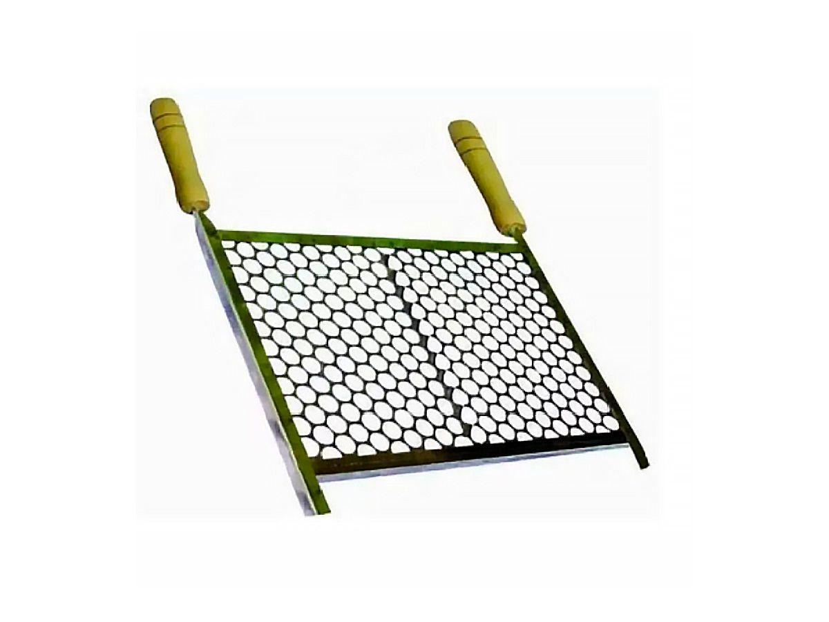 Grelha Retangular Para Churrasqueira Em Aço Inox 40x50cm  - Panela de Ferro Fundido