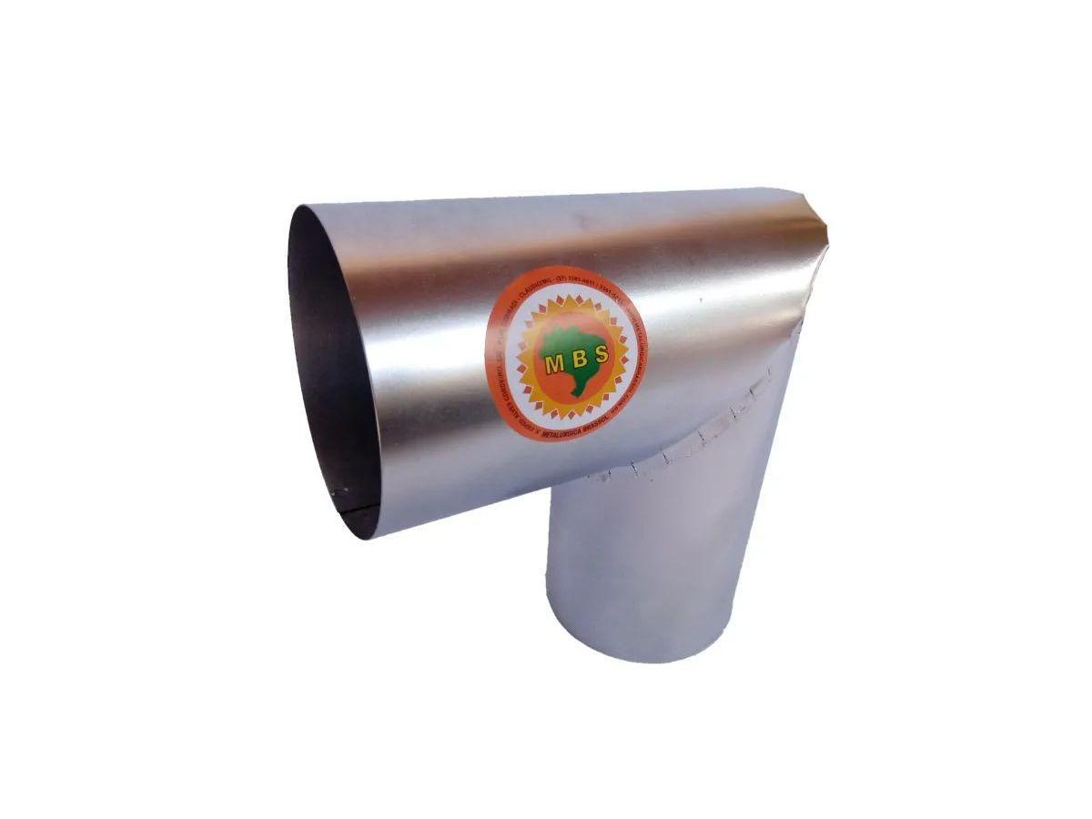 Joelho Para Tubo De Chaminé Inox Diâmetro 20cm  - Panela de Ferro Fundido