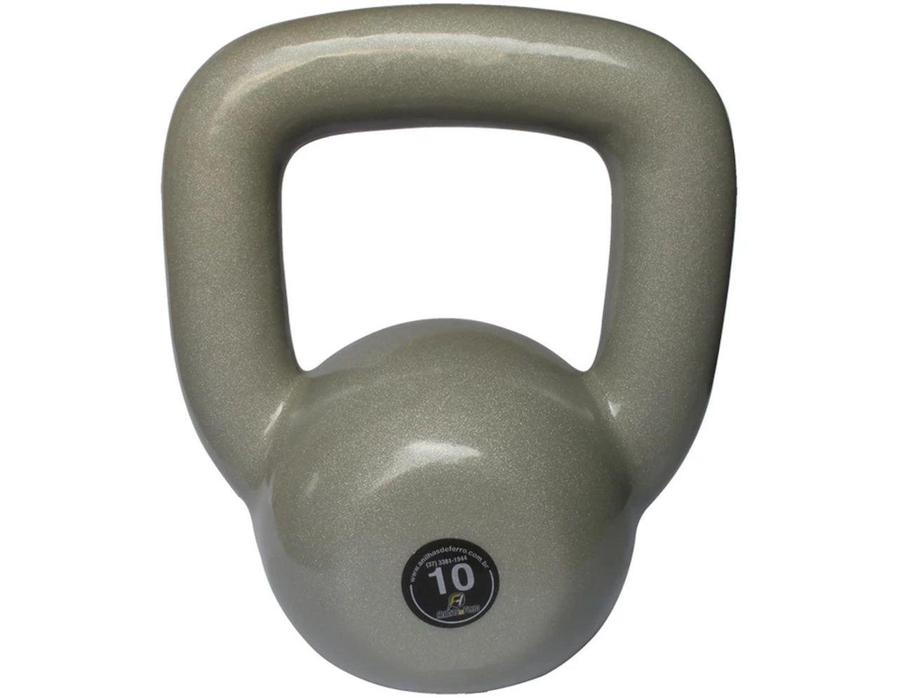 Kettlebell Emborrachado Treinamento Funcional Fitness 10,0kg