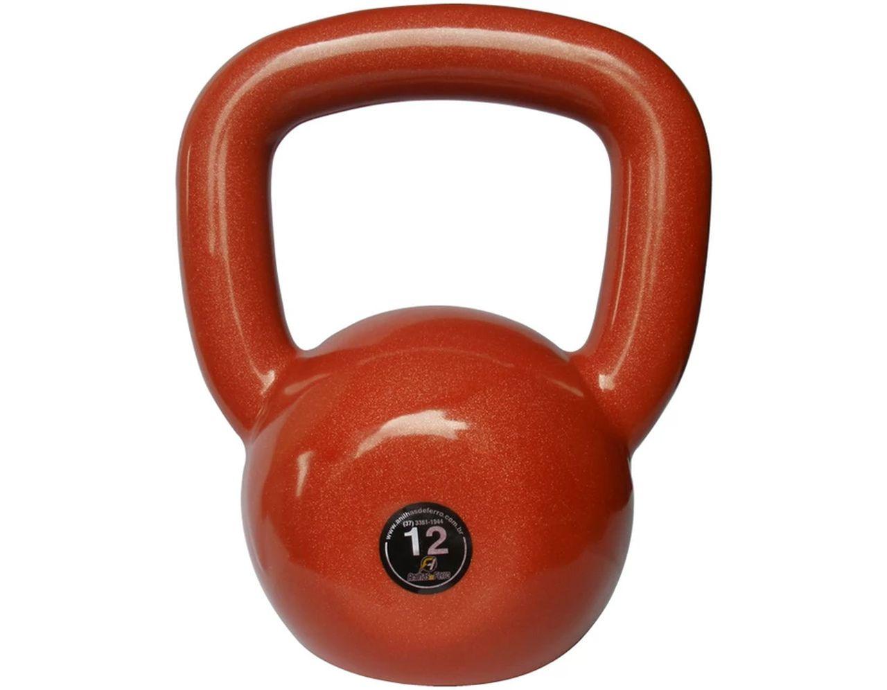 Kettlebell Emborrachado Treinamento Funcional Fitness 12,0kg  - Panela de Ferro Fundido