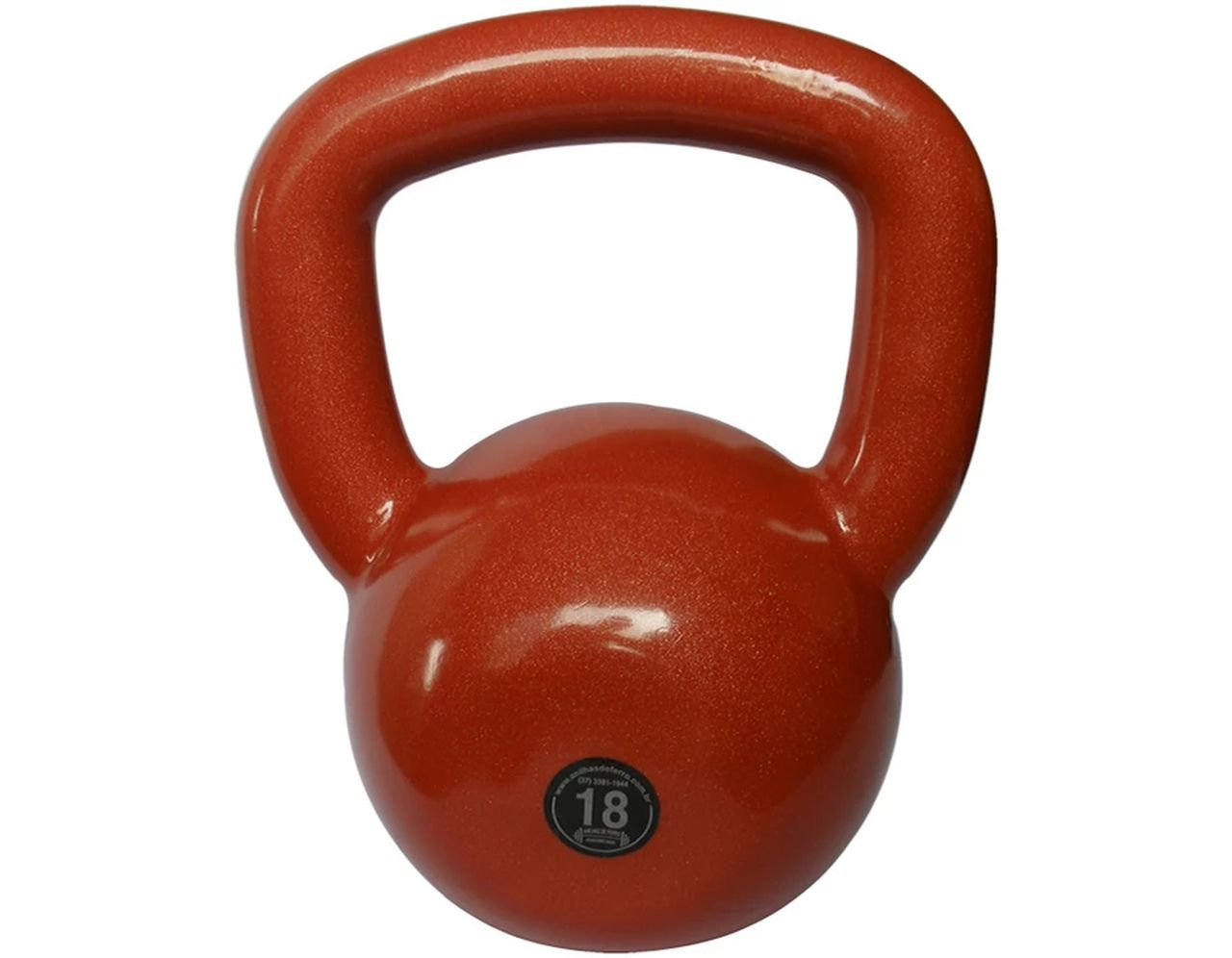 Kettlebell Emborrachado Treinamento Funcional Fitness 18,0kg  - Panela de Ferro Fundido