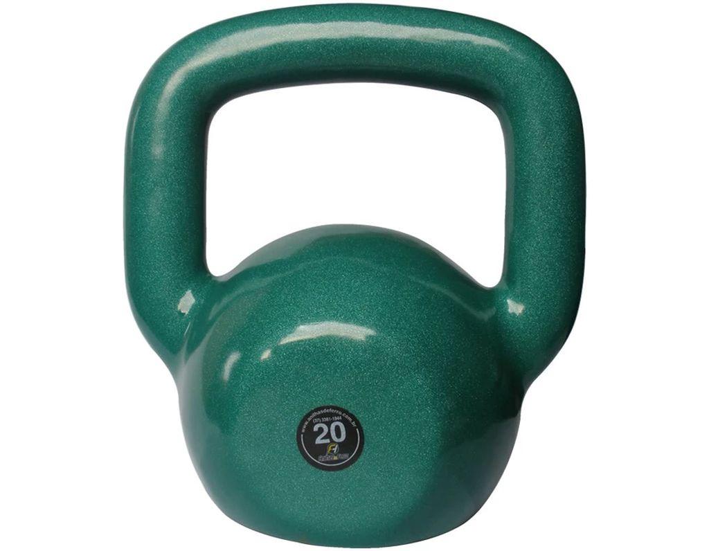 Kettlebell Emborrachado Treinamento Funcional Fitness 20,0kg  - Panela de Ferro Fundido