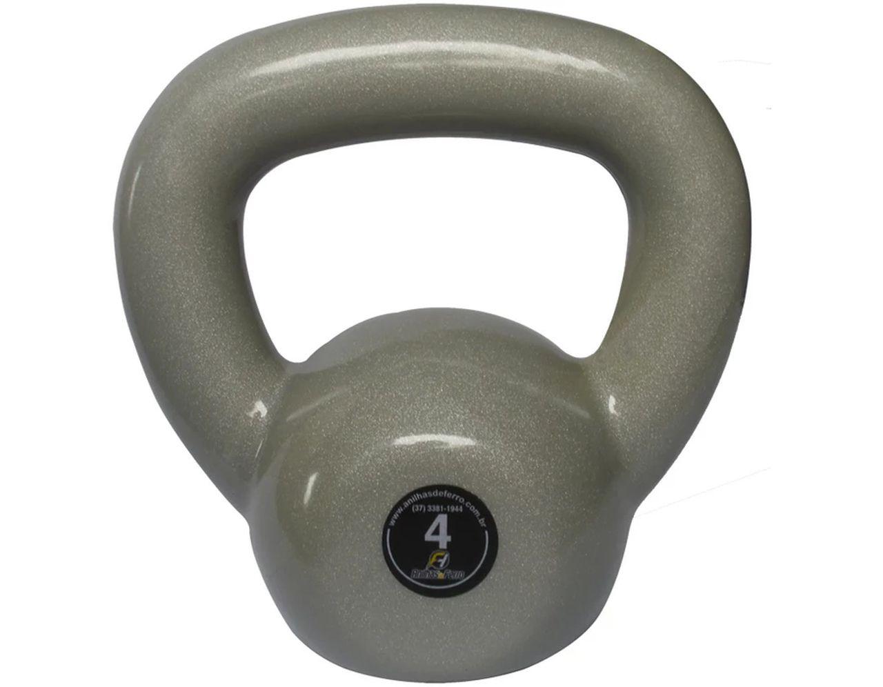 Kettlebell Emborrachado Treinamento Funcional Fitness 4,0 Kg