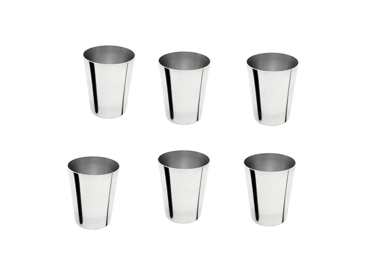 Kit Copo para Suco de Alumínio Reforçado Continental 06 Unid