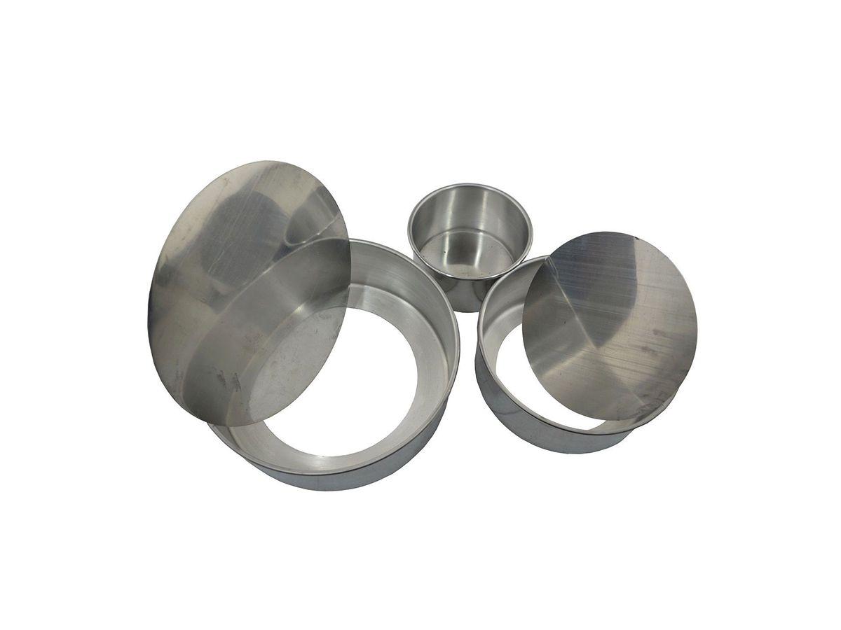 Kit Forma Bolo Assadeira Baixa Fundo Falso em Alumínio  - Panela de Ferro Fundido