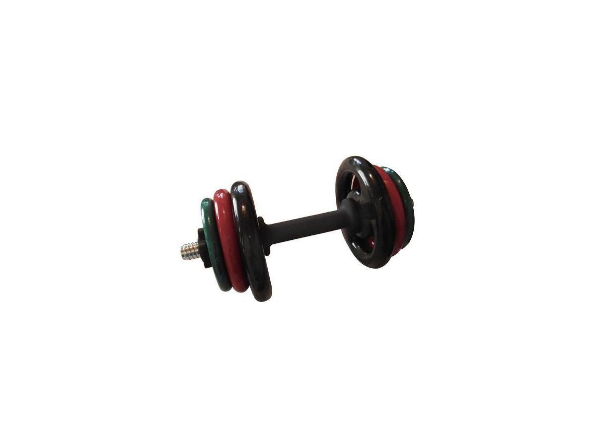 Kit Musculação Emborrachado com Barra Maciça 0,40mm  - Panela de Ferro Fundido
