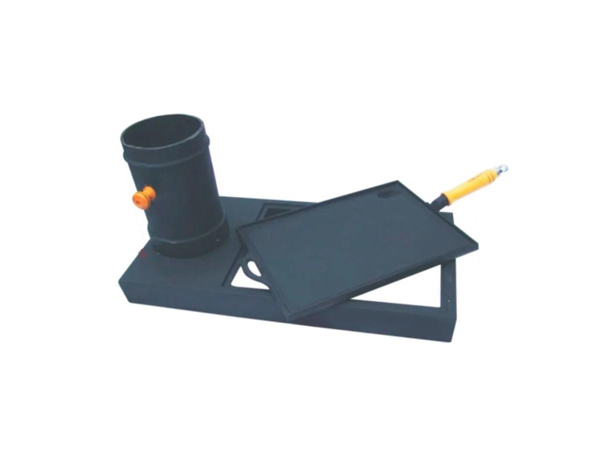 Kit Prático para Fogão de Lenha  em Ferro Fundido  - Panela de Ferro Fundido