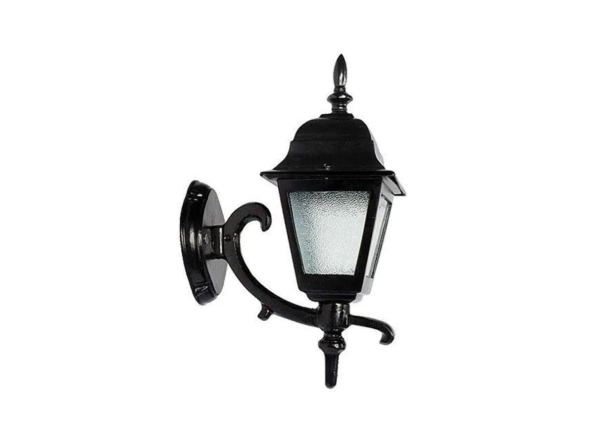 Luminária Colonial Canada Menor com Braço Em Alumínio 38cm
