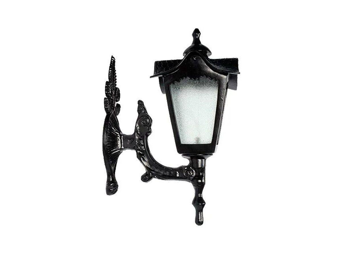 Luminária Colonial Madri Menor com Braço em Alumínio 45cm  - Panela de Ferro Fundido