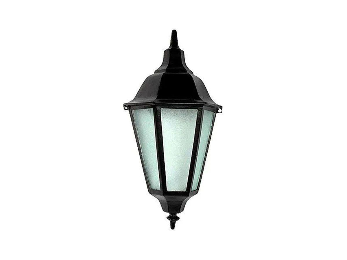 Luminária Colonial Meia Cara Italiana em Alumínio e Vidro  - Panela de Ferro Fundido