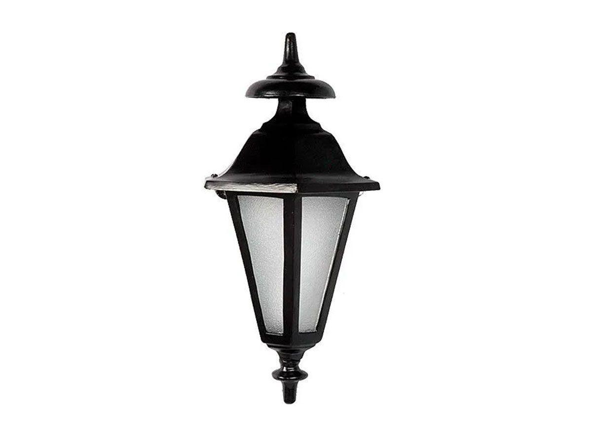 Luminária Colonial Meia Cara Verona em Alumínio e Vidro  - Panela de Ferro Fundido
