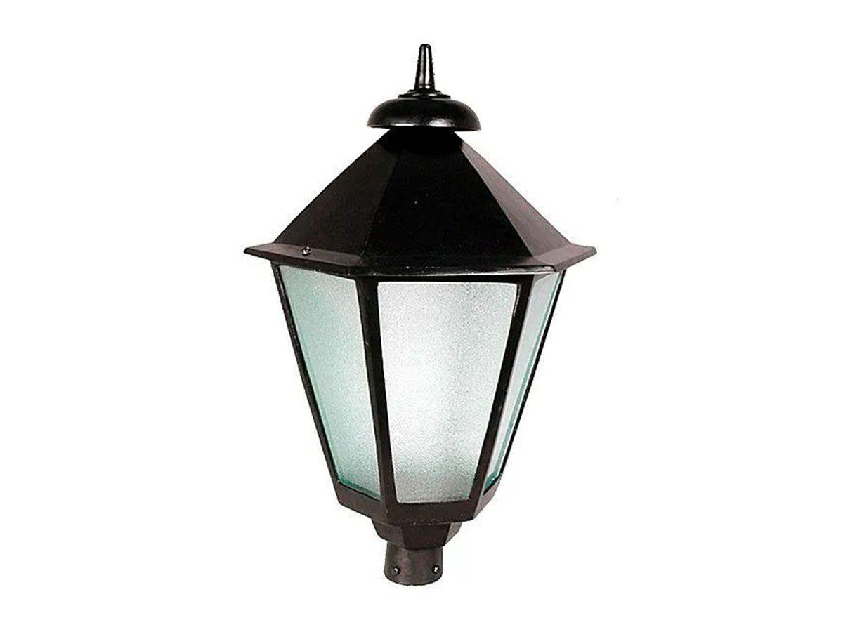 Luminária Colonial para Poste Italiana Grande em Alumínio  - Panela de Ferro Fundido