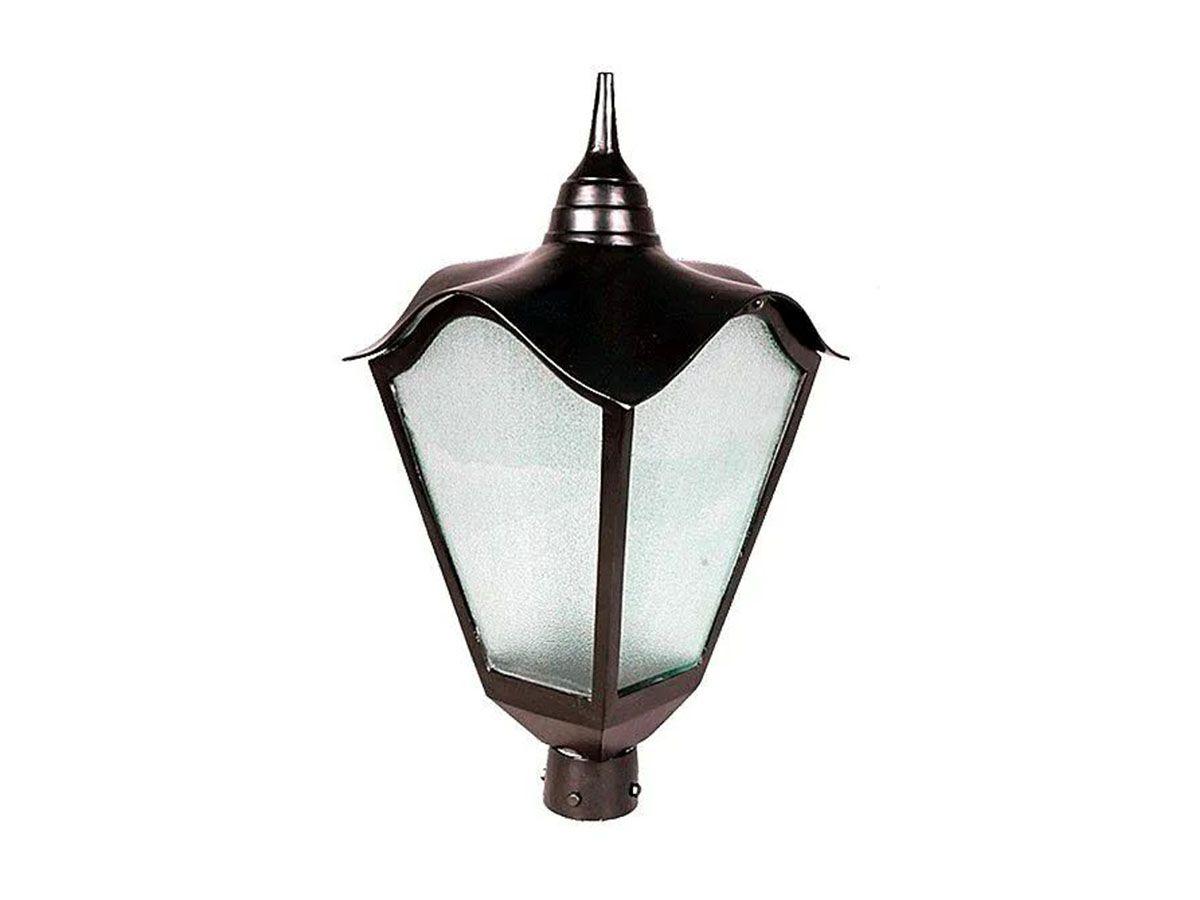 Luminária Colonial para Poste Romana Grande em Alumínio  - Panela de Ferro Fundido