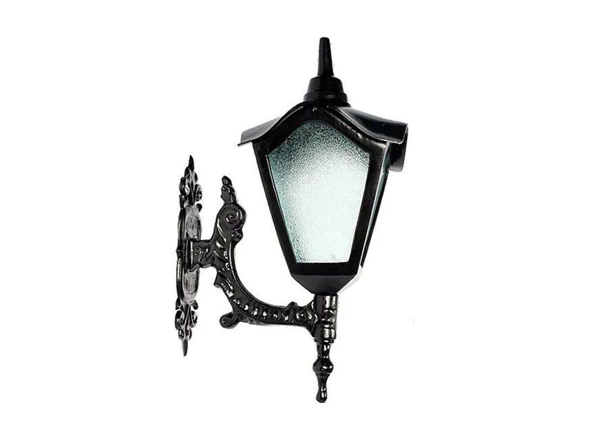Luminária Colonial Romana Menor com Braço em Alumínio 47cm  - Panela de Ferro Fundido