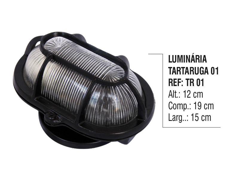 Luminária Colonial Tartaruga Parede Teto Chão Alumínio N01