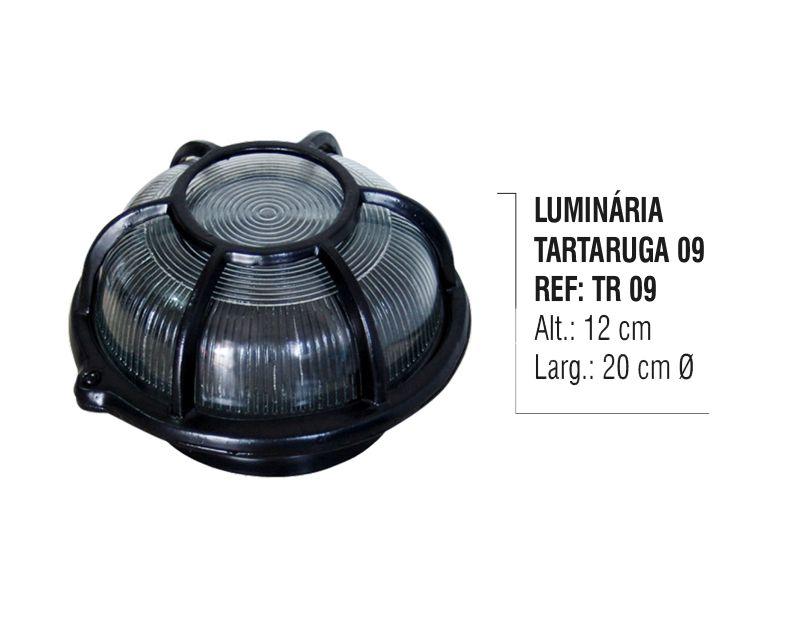 Luminária Colonial Tartaruga Parede Teto Chão Alumínio N09  - Panela de Ferro Fundido