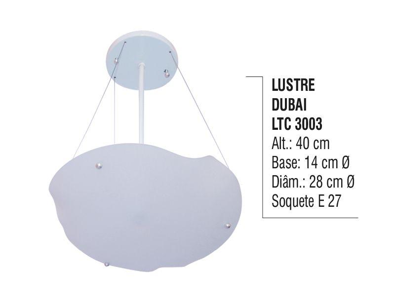 Lustre Contemporâneo de Teto Dubai Alumínio e Vidro  - Panela de Ferro Fundido