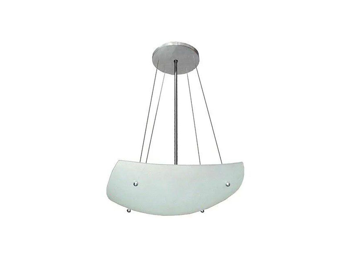 Lustre Contemporâneo de Teto Pégasus Alumínio e Vidro  - Panela de Ferro Fundido