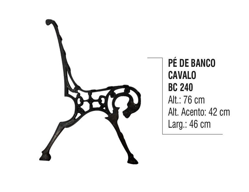 Pé de Banco para Praça Cavalo em Alumínio Fundido (par)  - Panela de Ferro Fundido