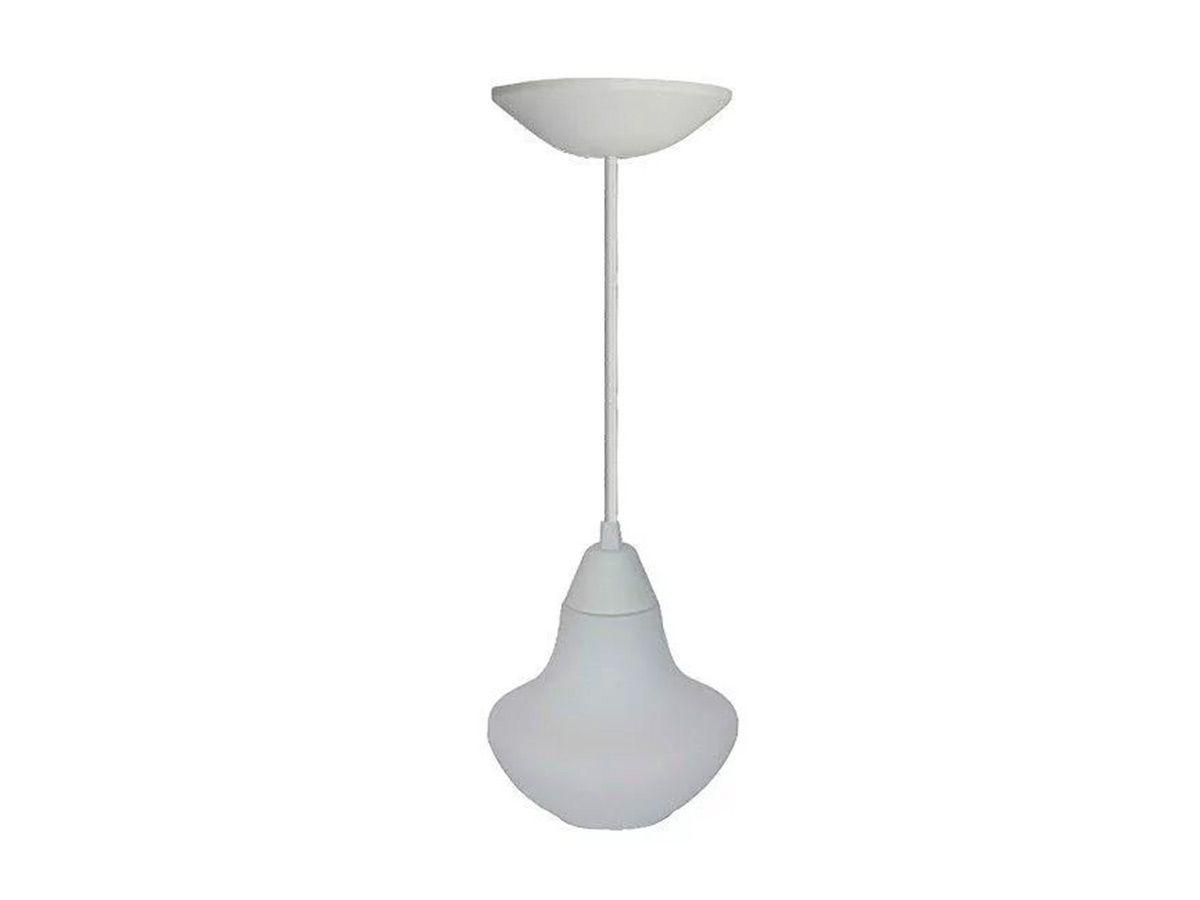 Pendente Lustre Luminária de Teto Denver Plástico e Vidro  - Panela de Ferro Fundido